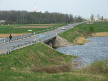 Bridge over the river Bartuva at Skuodas town