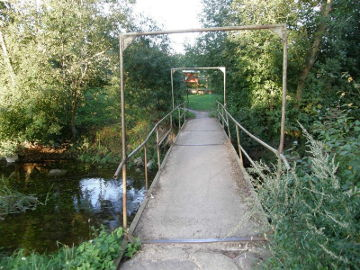 Small bridge over the river Juoda