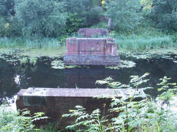 King Wilhelm channel. Remains of the bridge