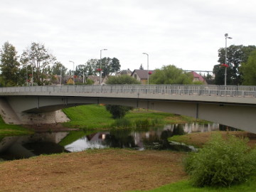 The bridge over the river Levuo at Pasvalys town