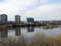 The river Neris at Kaunas city
