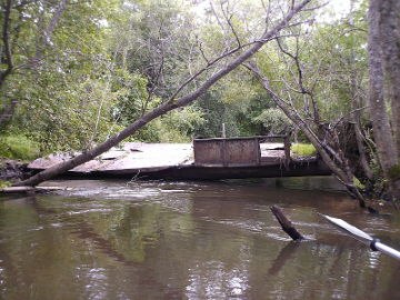 Remains of the bridge at Krapai village