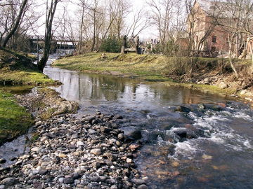 The river Venta at Uzventis town